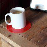 Tenura antiskli drikkebrikke Rød 19 cm