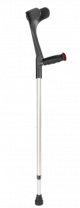 Krykke, mykt grep svart - 1 stk